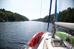 Motoring down the Collins Inlet