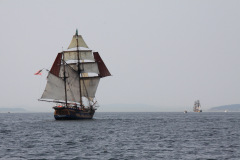 Hawaiin Chieftain & tall ship