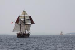 Hawaiin Chieftain & tall ship